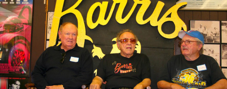 George Barris (center) with Korky Korkes (right)